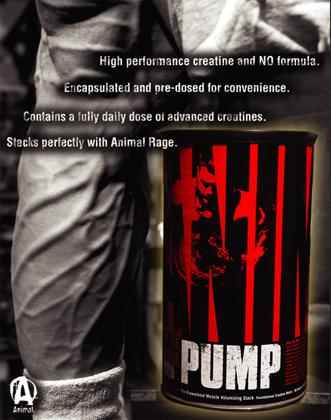 High performance creatine and NO formula. Encapsulated and pre-dosed for convenience. Contains a fully daily dose of advanced creatines. Stacks perfectly with Animal Rage.