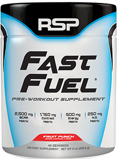 RSP Nutrition Fast Fuel. Pre Workout Supplement.