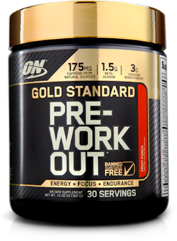 Optimum Nutrition Gold Standard Pre-Workout. ENergy. Focus. Endurance. 30 Servings.