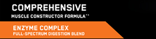 Comprehensive Muscle Constructor Formula*: Enzyme Complex, Full-Spectrum Digestion Blend