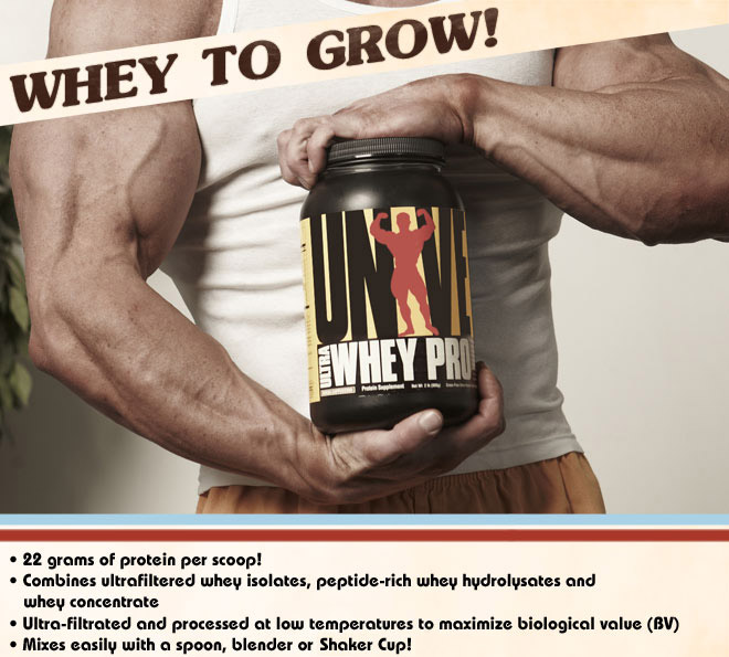22 grams of protein per scoop! - Combines ultrafiltered whey isolates, peptide-rich whey hydrolysates and whey concentrate - ultra-filtered and processed at low temperatures to maximize biological value (BV) - Mixes easily with a spoon, blender or Universal Shaker Cup!