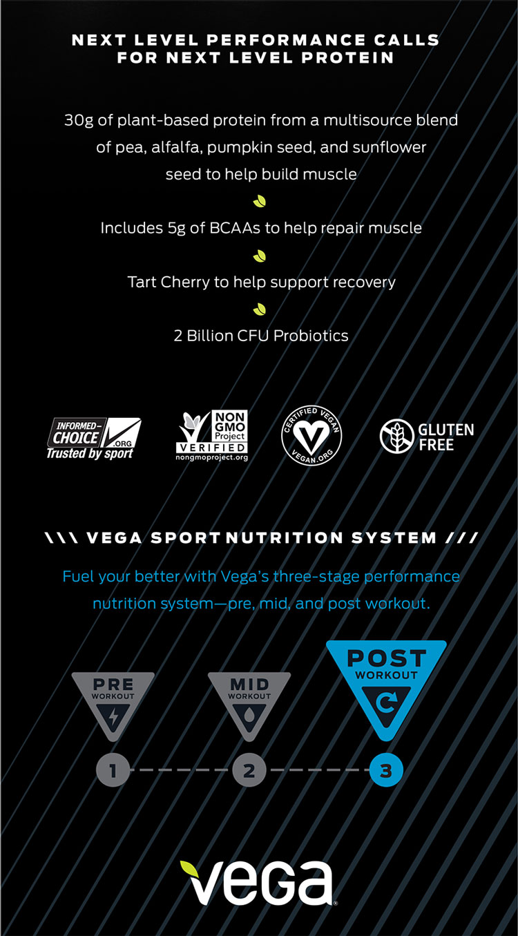 Vega Sports Pea Protein Stats