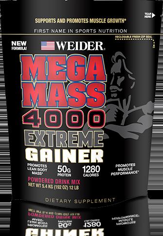 weider mega mass 4000 extreme gainer