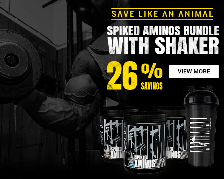 Save by purchasing Spiked Aminos with Shaker Bundle