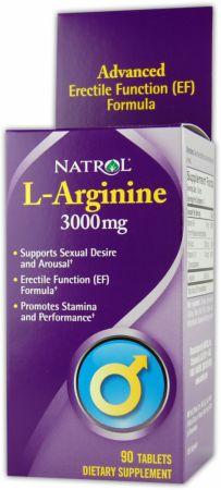 Image of Natrol L-Arginine 3000mg/90 Tablets