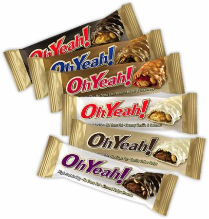 OhYeah! Nutrition OhYeah! Bars Chocolate Carmel Candies 12 - 85g Bars - Protein Bars