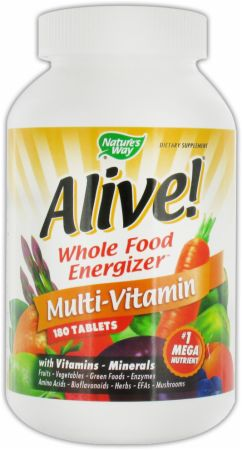 Alive Whole Food Energizer Ingredients