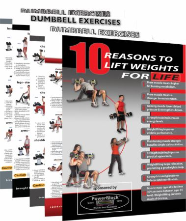 Dumbbell Workout Poster Pack