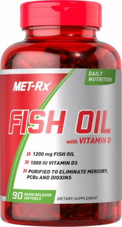 Fish oil with vitamin d by met rx at for Fish oil for bodybuilding