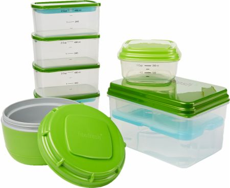 Perfect Lunch Kit with Reusable Portion Control Containers