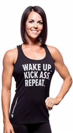 Women's Wake Up Kick Ass Repeat Tank