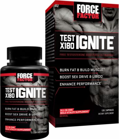 ForceFactor Test X180 Ignite at Bodybuilding.com - Best Prices on Test X180  Ignite! | Bodybuilding.com
