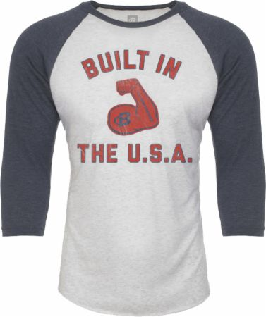 Built In The USA Baseball Tee