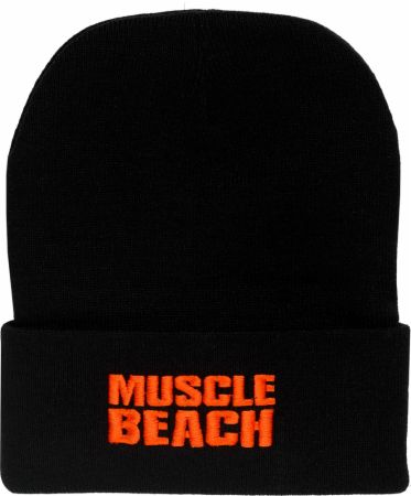 Cuffed Beanie with Muscle Beach Logo