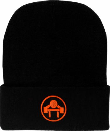 Cuffed Beanie with Muscle Beach Circle Logo