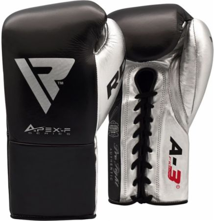 A3 Pro Fight Lace Up Leather Boxing Gloves