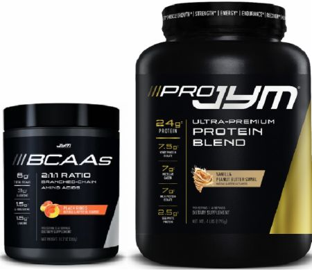 JYM BCAAs + 4lb Pro JYM Stack