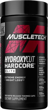 60 Servings of MuscleTech Hydroxycut Hardcore Elite Powder in Fruit Fusion or Blue Raspberry
