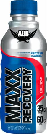 Image of Maxx Recovery Fruit Punch 12/18 Fl. Oz. Bottles - Protein RTD Shakes ABB
