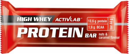 Image of ACTIVLAB High Whey Protein Bar 24 x 44g Bars Nuts & Caramel