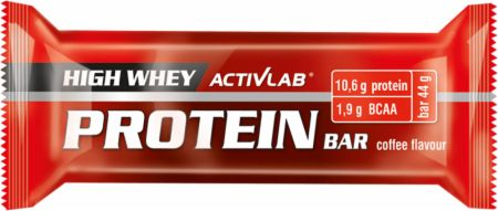 Image of ACTIVLAB High Whey Protein Bar 24 x 44g Bars Coffee