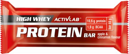 Image of ACTIVLAB High Whey Protein Bar 24 x 44g Bars Apple & Cinnamon