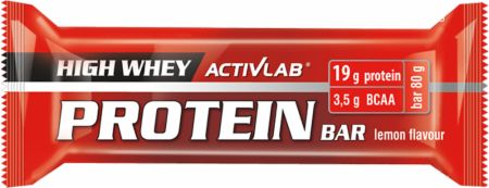 Image of ACTIVLAB High Whey Protein Bar 24 x 80g Bars Lemon