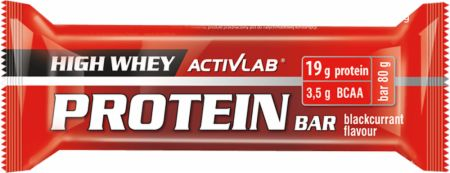 Image of ACTIVLAB High Whey Protein Bar 24 x 80g Bars Blackcurrant