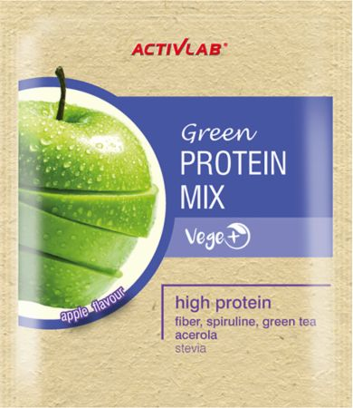 Image of ACTIVLAB Green Protein Mix 20 x 30g Packets Apple