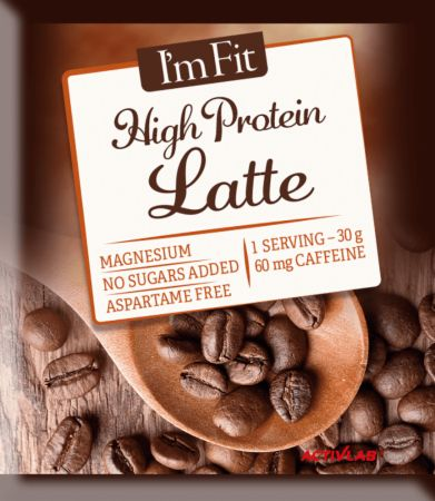Image of ACTIVLAB I'm Fit High Protein Latte 10 x 30g Sachets Coffee