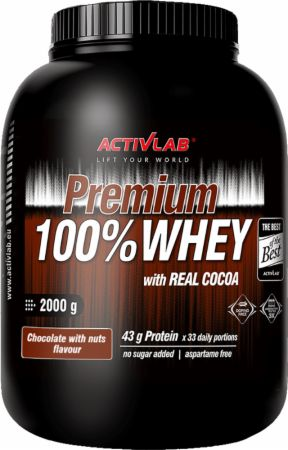 Image of ACTIVLAB Premium 100% Whey 2000 Grams Chocolate with Nuts