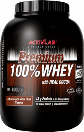 Image of ACTIVLAB Premium 100% Whey 2000 Grams Chocolate with Chili