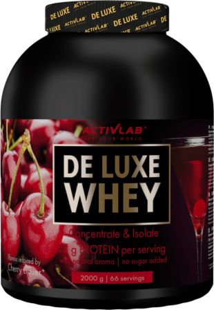 Image of ACTIVLAB De Luxe Whey 2000 Grams Cherry Liquer
