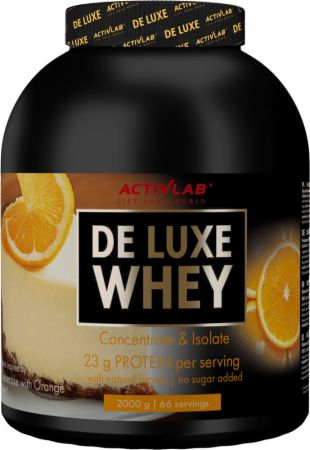 Image of ACTIVLAB De Luxe Whey 2000 Grams Cheesecake with Orange