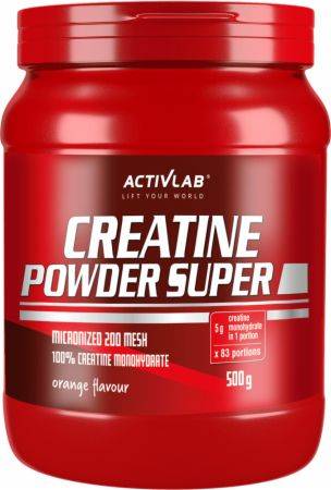 Image of ACTIVLAB Creatine Powder Super 500 Grams Orange