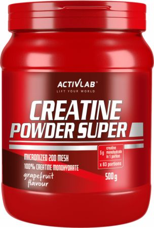 Image of ACTIVLAB Creatine Powder Super 500 Grams Grapefruit