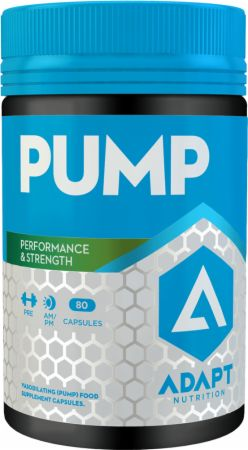 Image of Pump 80 Capsules - Stimulant Free Pre-Workout Adapt Nutrition