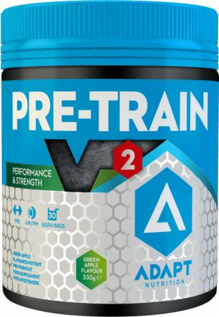 Image of PRE-TRAIN V2 Green Apple 330 Grams - Pre-Workout Supplements Adapt Nutrition