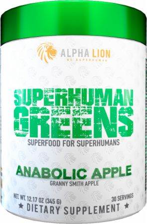 Image of Superhuman Greens Superfood Anabolic Apple 30 Servings - Greens Alpha Lion