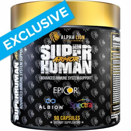 Image of SUPERHUMAN Armor Immune Support 90 Capsules - Immune System Support Alpha Lion