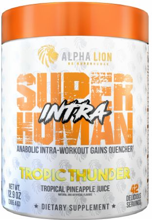 Image of SuperHuman BCAA + EAA Intra Tropic Thunder 42 servings - During Workout Alpha Lion