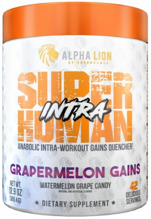 Image of SuperHuman BCAA + EAA Intra Grapermelon Gains 42 servings - During Workout Alpha Lion