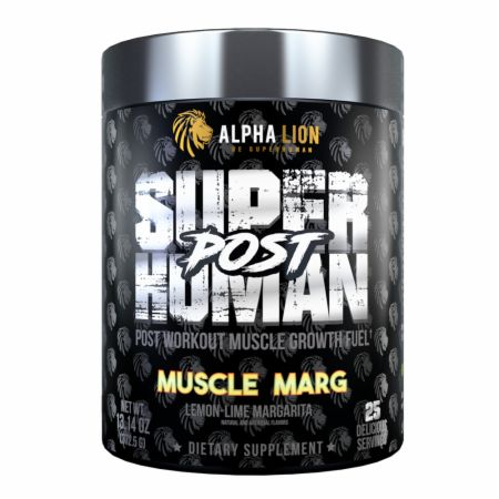 Image of SuperHuman Post Muscle Marg 30 servings - Post-Workout Recovery Alpha Lion