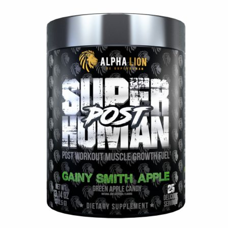 Image of SuperHuman Post Granny Smith Apple 30 servings - Post-Workout Recovery Alpha Lion