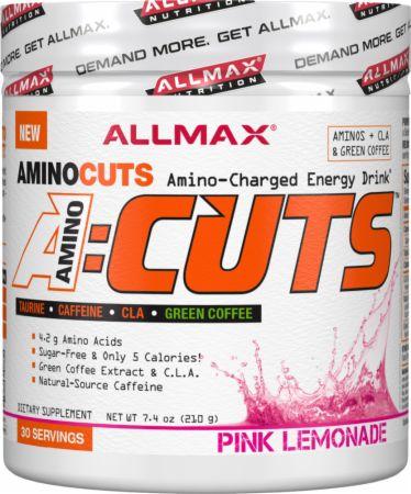 Image of A:Cuts Pink Lemonade 30 Servings - Amino Acids + Energy Allmax Nutrition