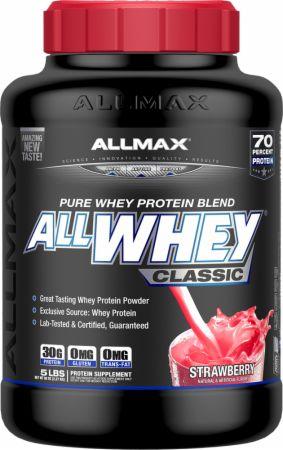 Image of AllWhey Classic Strawberry 5 Lbs. - Protein Powder Allmax Nutrition