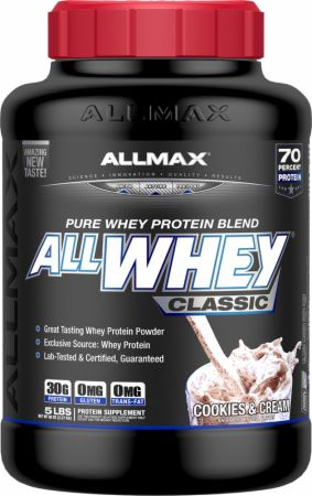 Image of AllWhey Classic Cookies and Cream 5 Lbs. - Protein Powder Allmax Nutrition