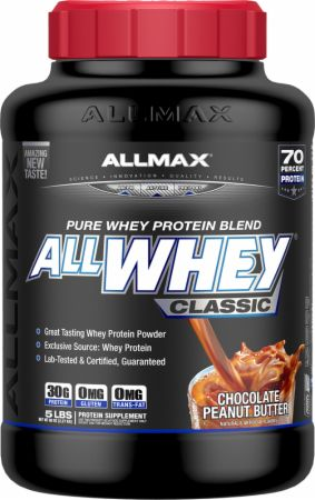 Image of AllWhey Classic Chocolate Peanut Butter 5 Lbs. - Protein Powder Allmax Nutrition