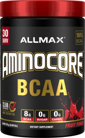 Image of Aminocore BCAA Fruit Punch 30 Servings - Amino Acids & BCAAs Allmax Nutrition