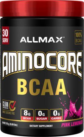 Image of Aminocore BCAA Pink Lemonade 30 Servings - Amino Acids & BCAAs Allmax Nutrition